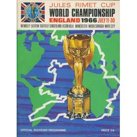 WORLD CUP 1966 TOURNAMENT BROCHURE
