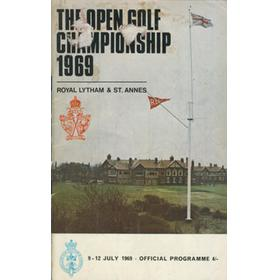 OPEN CHAMPIONSHIP 1969 (ROYAL LYTHAM & ST. ANNES) GOLF PROGRAMME