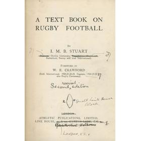 A TEXT BOOK ON RUGBY FOOTBALL