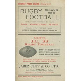 THE LAWS OF RUGBY FOOTBALL 1929-30