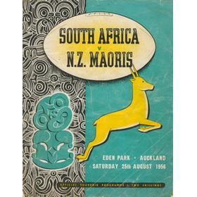 N.Z. MAORIS V SOUTH AFRICA 1956 RUGBY PROGRAMME