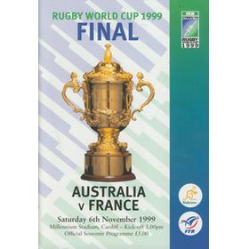 AUSTRALIA V FRANCE 1999 (WORLD CUP FINAL) RUGBY PROGRAMME