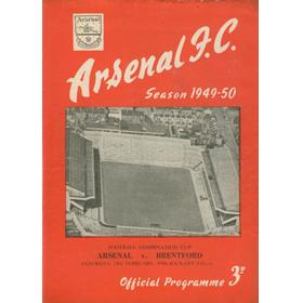 ARSENAL V BRENTFORD 1949-50 (COMBINATION CUP) FOOTBALL PROGRAMME