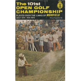 OPEN CHAMPIONSHIP 1972 (MUIRFIELD) GOLF PROGRAMME