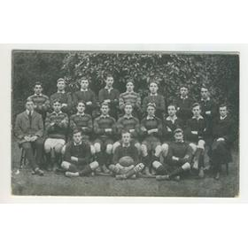 EXETER UNIVERSITY RUGBY TEAM 1911 POSTCARD
