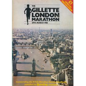 LONDON MARATHON 1981 OFFICIAL PROGRAMME