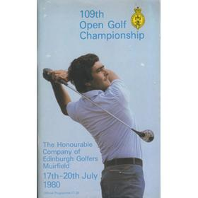 OPEN CHAMPIONSHIP 1980 (MUIRFIELD) GOLF PROGRAMME