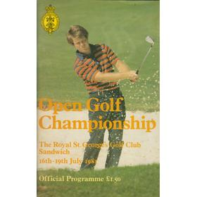 OPEN CHAMPIONSHIP 1981 (ROYAL SANDWICH) GOLF PROGRAMME