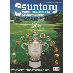 WORLD MATCH PLAY CHAMPIONSHIP 1983 GOLF PROGRAMME