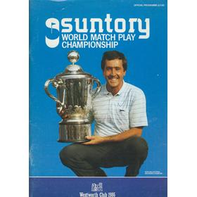 WORLD MATCH PLAY CHAMPIONSHIP 1986 GOLF PROGRAMME