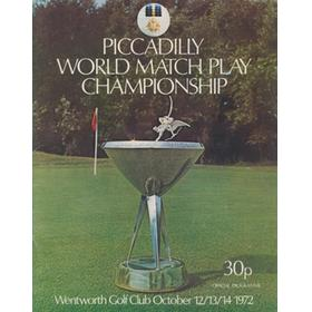 WORLD MATCH PLAY CHAMPIONSHIP 1972 GOLF PROGRAMME
