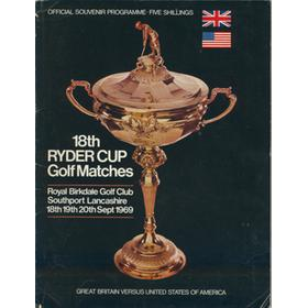 RYDER CUP 1969 (ROYAL BIRKDALE) OFFICIAL PROGRAMME (SIGNED BY NICKLAUS, JACKLIN AND TREVINO)