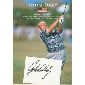 JOHN DALY (USA) PUBLICITY PHOTO + AUTOGRAPH