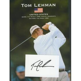 TOM LEHMAN (USA) PUBLICITY PHOTO + AUTOGRAPH