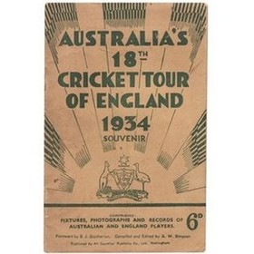 AUSTRALIA TOUR OF ENGLAND 1934