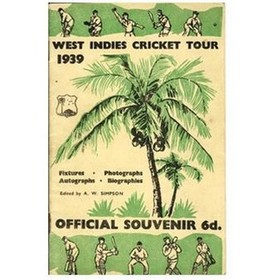 WEST INDIES CRICKET TOUR 1939
