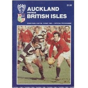 AUCKLAND V BRITISH ISLES 1983 RUGBY PROGRAMME