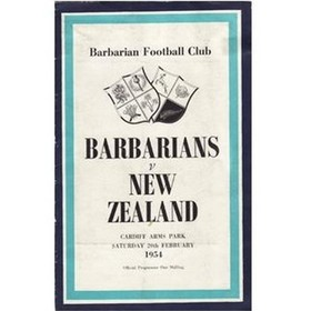 BARBARIANS V NEW ZEALAND 1954