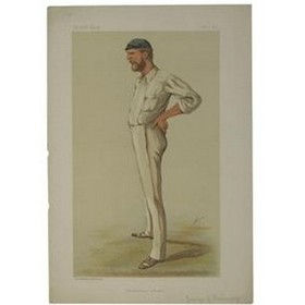 "BONNOR, GEORGE JOHN  (""AUSTRALIAN CRICKET"") 1884 VANITY FAIR PRINT"