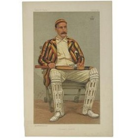 "LORD HAWKE (""YORKSHIRE CRICKET"") 1892 VANITY FAIR PRINT"