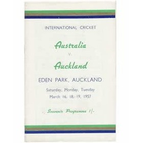 Representative cricket match programmes sportspages auckland v australia 1956 57 eden park stopboris Gallery