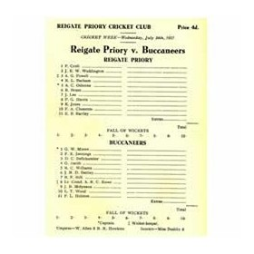 REIGATE PRIORY V BUCCANEERS 1957