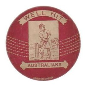 "BAINES ""WELL HIT AUSTRALIANS"" trade card"