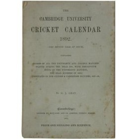 THE CAMBRIDGE UNIVERSITY CRICKET CALENDAR 1892