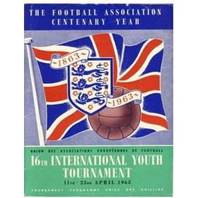 INTERNATIONAL YOUTH TOURNAMENT 1963 FOOTBALL PROGRAMME
