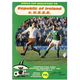REPUBLIC OF IRELAND V U.S.S.R. 1984 FOOTBALL PROGRAMME