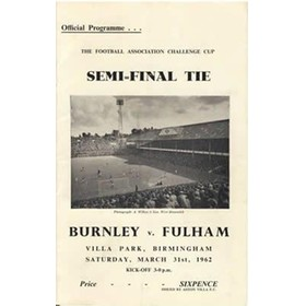 BURNLEY V FULHAM 1962 (F.A. CUP SEMI-FINAL) FOOTBALL PROGRAMME