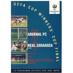 ARSENAL V REAL ZARAGOZA 1995 (ECWC FINAL) FOOTBALL PROGRAMME