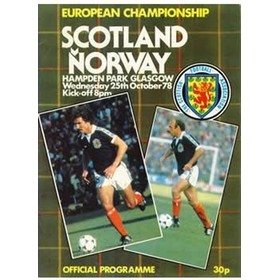 SCOTLAND V NORWAY 1978 (EUROPEAN CHAMPIONSHIPS) FOOTBALL PROGRAMME