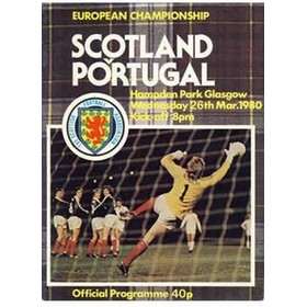 SCOTLAND V PORTUGAL 1980 (EUROPEAN CHAMPIONSHIPS) FOOTBALL PROGRAMME