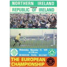 NORTHERN IRELAND V REPUBLIC OF IRELAND 1979 (EUROPEAN CHAMPIONSHIPS) FOOTBALL PROGRAMME