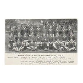 SOUTH AFRICA 1912-13 RUGBY POSTCARD