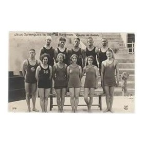 PARIS OLYMPICS 1924 (SWEDISH SWIMMING TEAM) postcard