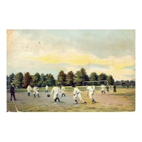 MATCH IN PROGRESS WITH REFEREE FOOTBALL POSTCARD