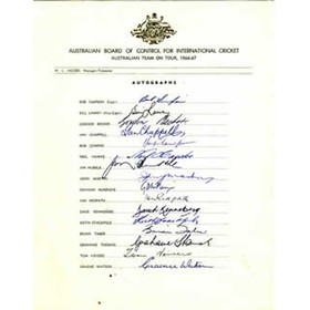 AUSTRALIA 1966-67 CRICKET AUTOGRAPHS