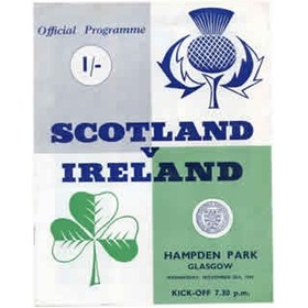 SCOTLAND V NORTHERN IRELAND 1964 FOOTBALL PROGRAMME