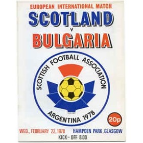 SCOTLAND V BULGARIA 1978 FOOTBALL PROGRAMME