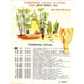 OFFICIAL GROUP 4 PROGRAMME (WORLD CUP 1962) FOOTBALL PROGRAMME
