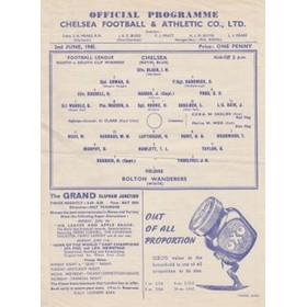 CHELSEA V BOLTON 1945 (FOOTBALL LEAGUE WAR CUP NORTH V SOUTH FINAL) FOOTBALL PROGRAMME