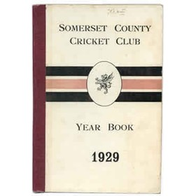 SOMERSET COUNTY CRICKET CLUB YEARBOOK 1929