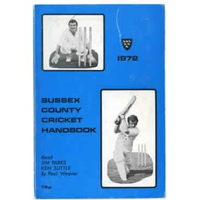 OFFICIAL SUSSEX CRICKET HANDBOOK 1972