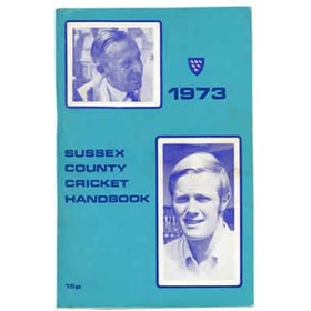 OFFICIAL SUSSEX CRICKET HANDBOOK 1973