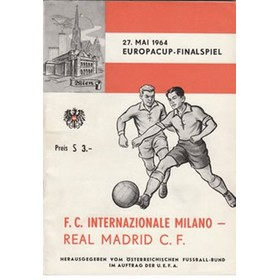 INTERNAZIONALE V REAL MADRID 1964 (EUROPEAN CUP FINAL) FOOTBALL PROGRAMME
