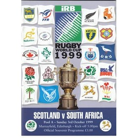 SCOTLAND V SOUTH AFRICA 1999 RUGBY PROGRAMME