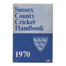 SUSSEX COUNTY CRICKET CLUB HANDBOOK 1970