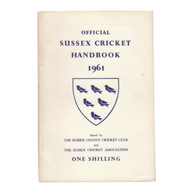 OFFICIAL SUSSEX CRICKET HANDBOOK 1961